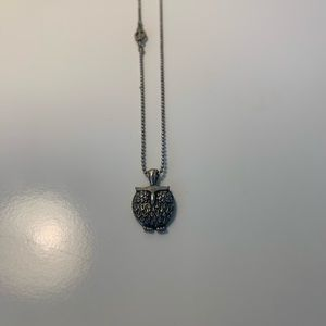 Lucky Brand Owl Charm Necklace